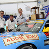 2004 24 Hours of Daytona overall winners: Timo Bernhard, Kevin Buckler and Jörg Bergmeister