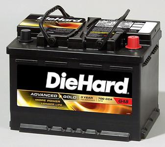 The Sears DieHard Advanced Gold (AGM) - Group 48 battery.