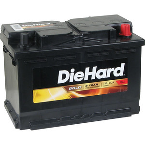 The Sears DieHard Gold - Group 48 battery.