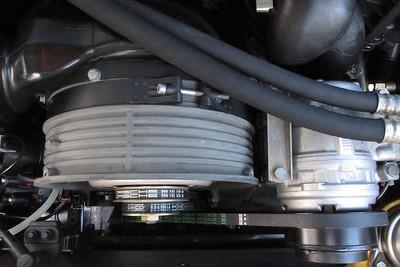 Engine Drive Belts - 1995 Porsche Carrera  Top to bottom: Cooling fan belt, 9.5 x 776 LA, Porsche part number: 999 192 338 50. Alternator belt, 9.5 x 760 LA,  Porsche part number: 999 192 343 50. A/C belt, 13 x 1085 LA, Porsche part number: 999 192 363 50.