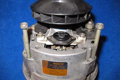 The voltage regulator and alternator labels for your information.