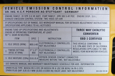 """All 1995 and earlier Porsche Carrera 993 models are """"OBD I Certified"""".  Although the """"late"""" 1995 models are equipped with the newer OBD II connectors, an OBD II code reader cannot be used to download MIL (Malfunction Indicator Light) trouble codes."""