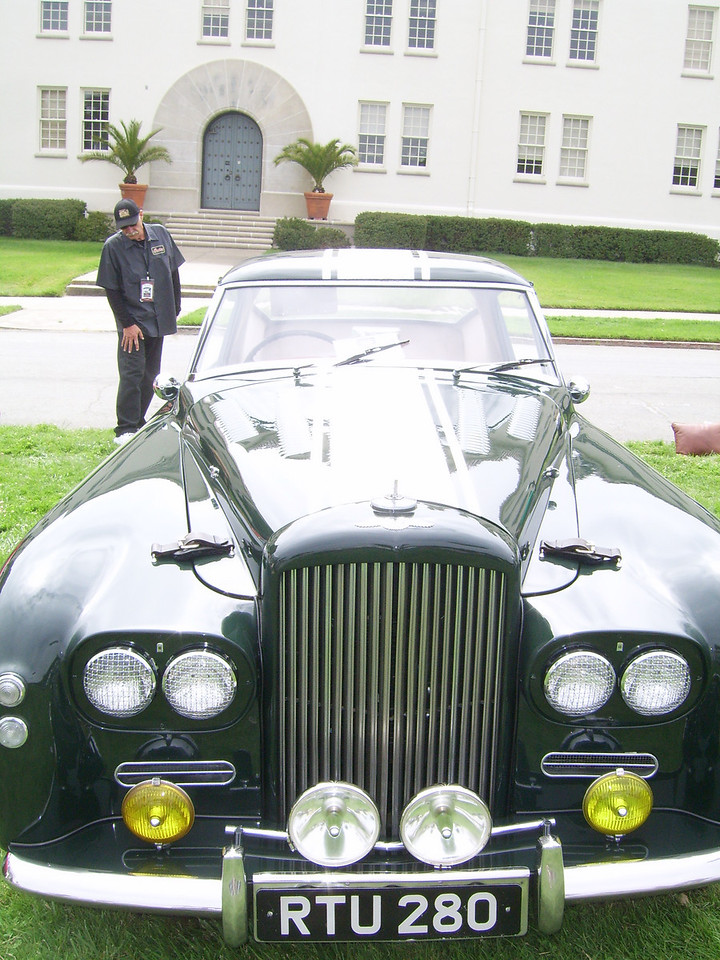 A 1955 Bently R-Type Special owned by Terry O'Reilly of Burlinggame.