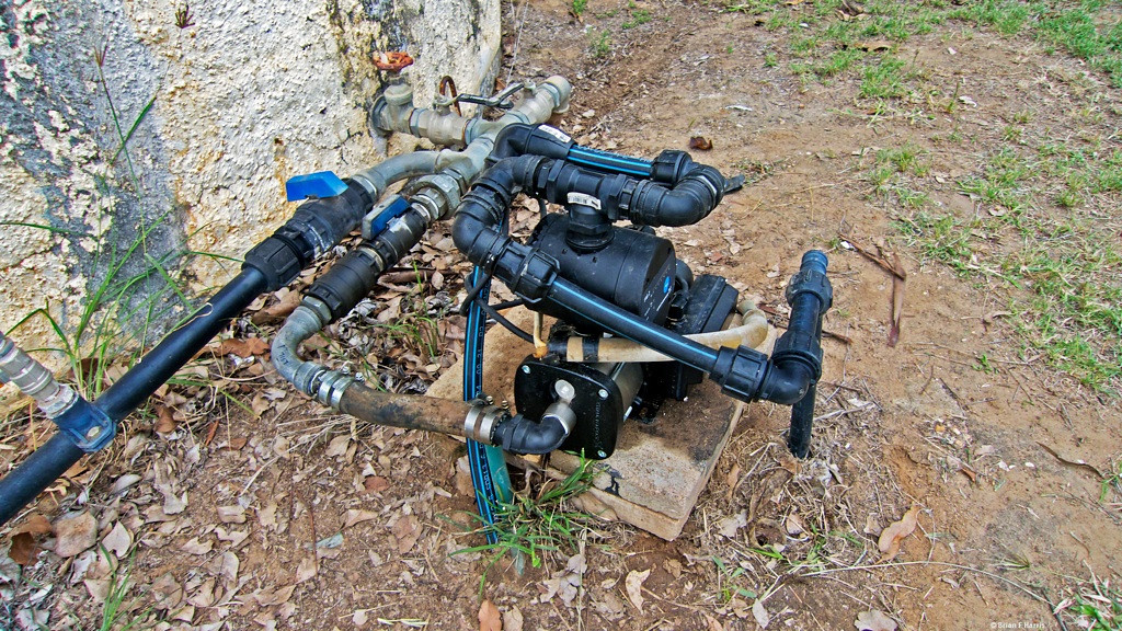 Grunfos house hold water pressure pump. The real thing. Our showers have as good or better than town water pressure. Toilet top tank fills in seconds instead of minutes.  Great pressure even when running several garden wobble strays at the same time. Pump does not keep cutting in and out like others we have had. So quiet !
