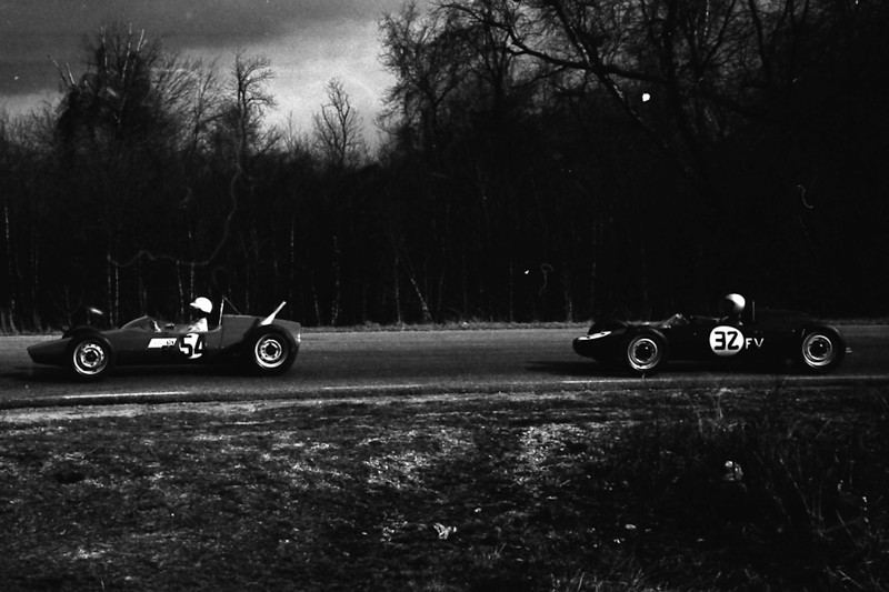 """Dobbins, Bill (photographer) and Knoll, Steve (scanner). """"Is this you Glen?"""" Marlboro_Raceway · Marlboro Motor Raceway YahooGroup. 2009. <a href=""""http://groups.yahoo.com/group/Marlboro_Raceway/photos/album/209901720/pic/872367536/view"""">http://groups.yahoo.com/group/Marlboro_Raceway/photos/album/209901720/pic/872367536/view</a><br /> <br /> Karl Ludvigsen at Marlboro in 1966 <br /> <a href=""""http://www.formulasaab.com/index.php?option=com_content&view=article&id=95"""">http://www.formulasaab.com/index.php?option=com_content&view=article&id=95</a>:karl-ludvigsens-article-and-a-formula-s-experience&catid=37:press&Itemid=57<br /> Not my photo. This was shot by Bill Dobbins and scanned by Steve Knoll."""