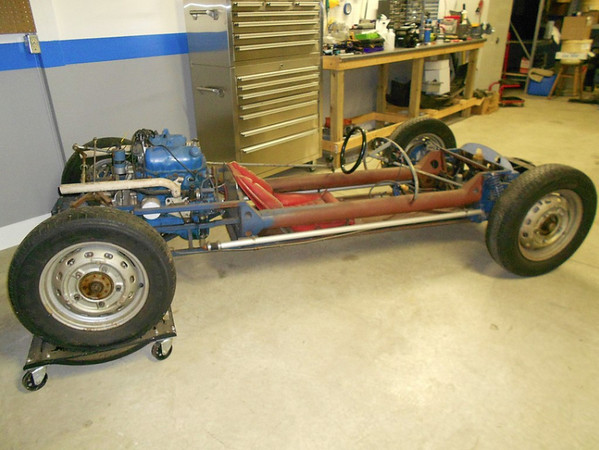 The chassis was lengthened by a previous owner, Charles Harter, to fit a V4. This is how it was when purchased by Leon Mull in 1991 and again by Bertil Sollenskog.
