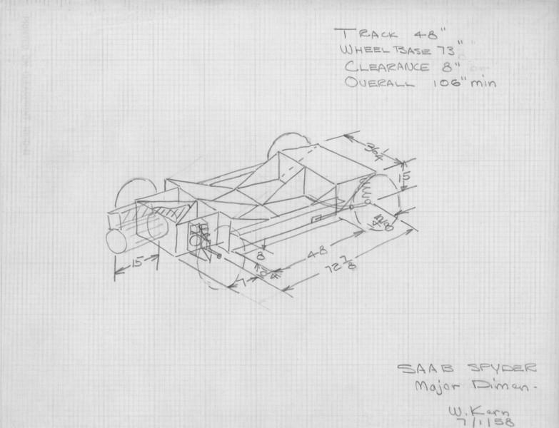 """design sketch """"SAAB SPYDER"""""""