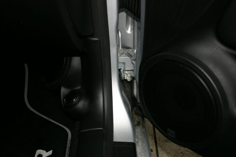 "This is the right hand QSD 164 6.5"" mid-bass in the door, and the QSD 213 5.25"" component set in a Q-Forms custom kickpanel."