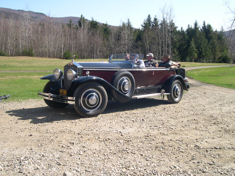 Here are a few pictures of the cars at the PI Seminar that I went to in Stowe, VT last week.  It was hosted by Pierce Reid and Bill Cooke.  The Piccadilly is a Ghost and the Playboy Roadster in the shop is a Ghost, once owned by Everett Pauls, all others are PI.  Henry Hensley