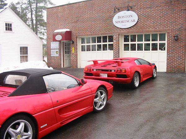 Ferrari F355 Spyder and Lamborghini Diablo VT