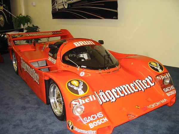 Porsche 962C. Painted in the livery in which in won the 1986 FIA World Sports Prototype Championship at Spa.