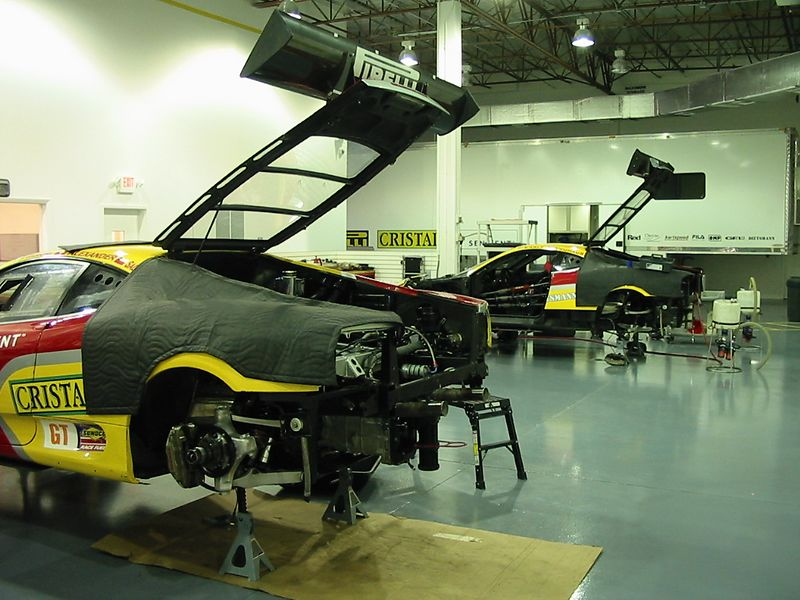 Ferrari 360GT being prepared for 2003's Grand Prix of Miami