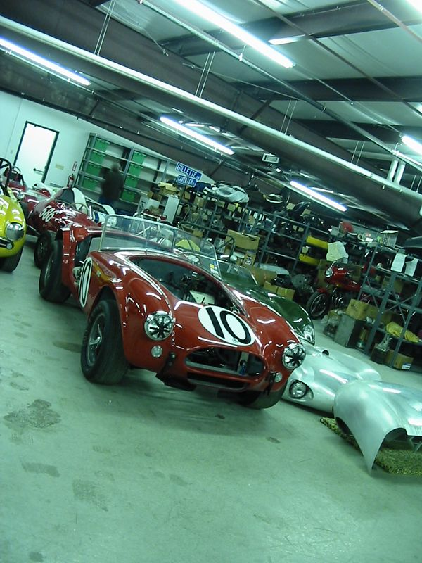 Shelby Cobra in storage