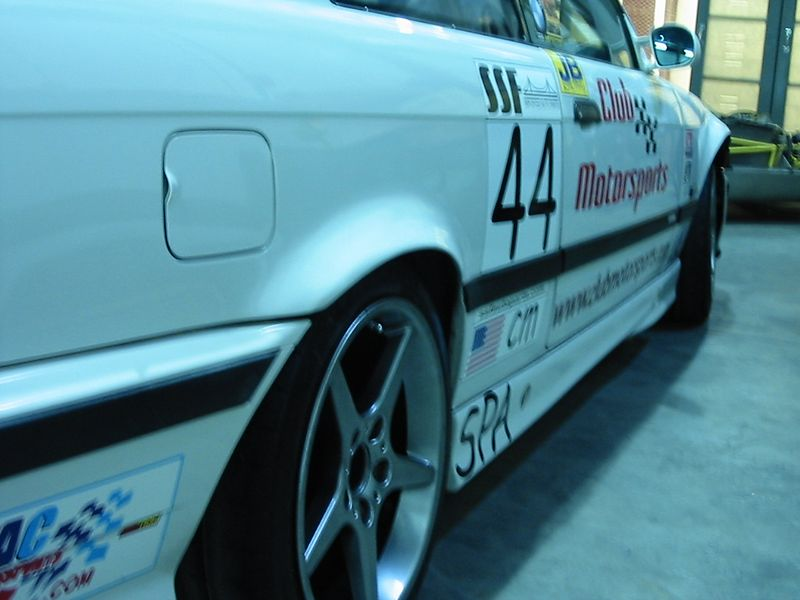 BMW M3, Club Motorsport's founder Dan Croteau... check out the fender flares