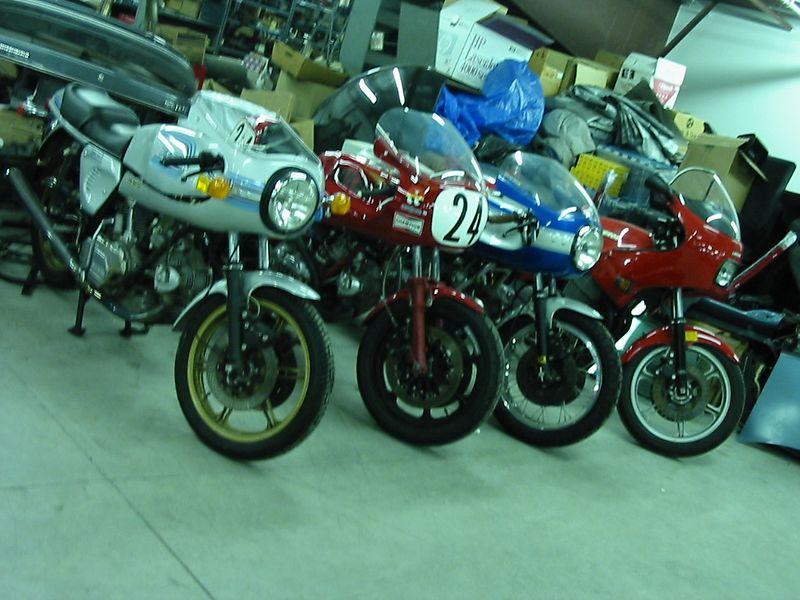 Ducatis in storage