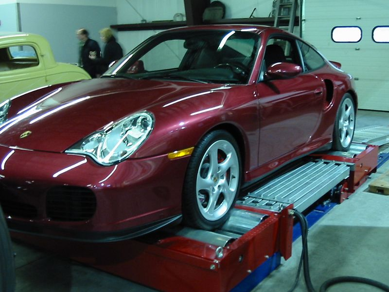 Dyno with Porsche 911 Turbo tuning