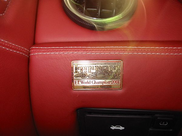 Ferrari 575M interior plaque. This was something I did not know was in there - 2000 World Champions