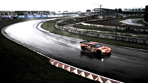 The China Exim Corvette alone at the FIA GT1 Championship in Beijing