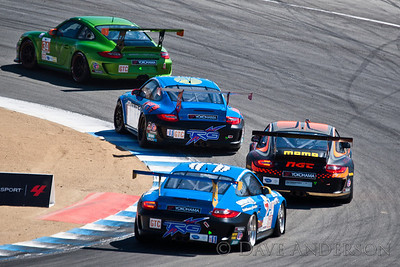 Car #66, Porsche 911 GT3 Cup(GTC) Ende/(Pumpelly*)/Ludwig, 23rd Overall(222 Laps), 1st in Class, Qualifying Time 1:28.386 @91.155mph, Best Race Lap 1:28.721, Total Time 6:02:27.060(26 Laps Behind Lead)  Car #34, Porsche 911 GT3 Cup(GTC) LeSaffre/(Faulkner*), 25th Overall(221 Laps), 3rd in Class, Qualifying Time 1:28.152 @91.397mph, Best Race Lap 1:29.152, Total Time 6:01:09.581(27 Laps Behind Lead)  Car #68, Porsche 911 GT3 Cup(GTC) (von Moltke*)/Buckler/Di Guida, 29th Overall(216 Laps), 6th in Class, Qualifying Time 1:28.796 @90.734mph, Best Race Lap 1:29.545, Total Time 6:01:06.880(32 Laps Behind Lead)  Car #30, Porsche 911 GT3 Cup(GTC) (Ragginger*)/Kauffmann/Cisnero, 30th Overall(215 Laps), 7th in Class, Qualifying Time 1:28.617 @90.917mph, Best Race Lap 1:29.410, Total Time 6:01:07.281(33 Laps Behind Lead)