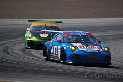 Car #66, Porsche 911 GT3 Cup(GTC) Ende/(Pumpelly*)/Ludwig, 23rd Overall(222 Laps), 1st in Class, Qualifying Time 1:28.386 @91.155mph, Best Race Lap 1:28.721, Total Time 6:02:27.060(26 Laps Behind Lead)  Car #34, Porsche 911 GT3 Cup(GTC) LeSaffre/(Faulkner*), 25th Overall(221 Laps), 3rd in Class, Qualifying Time 1:28.152 @91.397mph, Best Race Lap 1:29.152, Total Time 6:01:09.581(27 Laps Behind Lead)