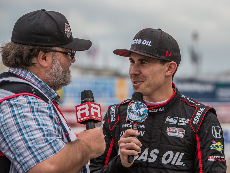 Racer Magazine's Marshall Pruit interviews pole sitter Robert Wickens