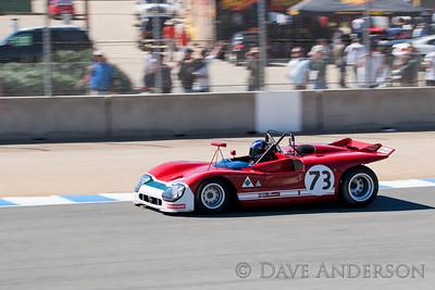 Car #73, 1971 Alfa Romeo T33/3(3000cc), Paul Brown(Covina, CA), 5th Place, Best Race Lap: 01:29.936 (Race Group 5A, 1964-1969 FIA Mfg. Championship Cars)