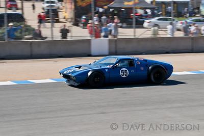 Car #55, 1970 DeTamaso Mangusta(4735cc), Lilo Zicron(Burbank, CA), 13th Place, Best Race Lap: 01:44.552 (Race Group 5A, 1964-1969 FIA Mfg. Championship Cars)