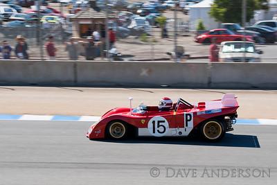 Car #15, 1971 Ferrari 312 PB(3000cc), Ernie Prisbe(Los Altos Hills, CA), 12th Place, Best Race Lap: 01:40.343 (Race Group 5A, 1964-1969 FIA Mfg. Championship Cars)