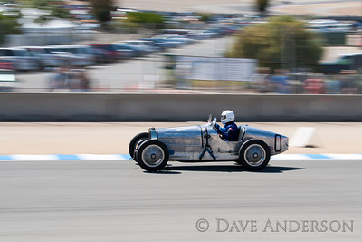Car #100, 1930 Bugatti Type 35B(2262cc), 0-George Davidson(Louisville, KY), 16th Place, Best Race Lap: 02:17.065 (Race Group 4A, Bugatti Grand Prix)