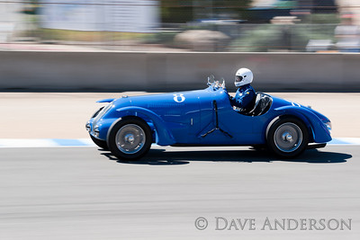 Car #8, 1938 Bugatti Type 57(3200cc), Scott Larson(Whitefish Bay, WI), 21st Place, Best Race Lap: 02:21.664 (Race Group 4A, Bugatti Grand Prix)