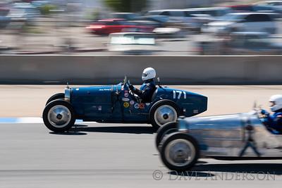 Car #171, 1926 Bugatti Type 37A(1500cc), Konig Jurg(Richterswil, Zurich), 15th Place, Best Race Lap: 02:17.753 (Race Group 4A, Bugatti Grand Prix)  Car #100, 1930 Bugatti Type 35B(2262cc), 0-George Davidson(Louisville, KY), 16th Place, Best Race Lap: 02:17.065 (Race Group 4A, Bugatti Grand Prix)