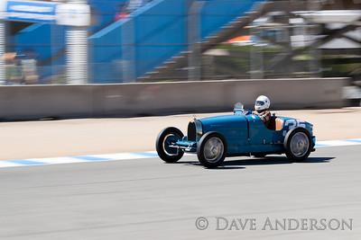 Car #35, 1925 Bugatti Type 35C(2300cc), Richard Riddell(Laguna Beach, CA), 22nd Place, Best Race Lap: 02:25.686 (Race Group 4A, Bugatti Grand Prix)