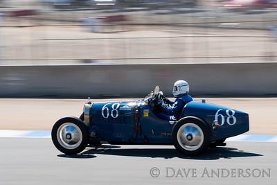 Car #68, 1925 Bugatti Type 35A(2300cc), David B. Duthu(Seabrook, TX), 10th Place, Best Race Lap: 02:13.200 (Race Group 4A, Bugatti Grand Prix)