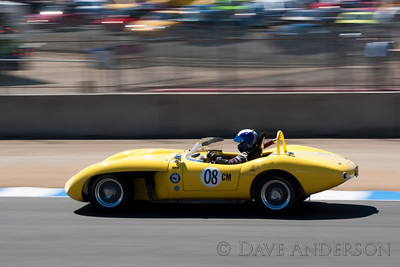 Car #8, 1961 Ol' Yeller MK 9(5358cc), Chris Hines(Scottsdale, AZ), 5th Place, Best Race Lap: 01:48.635 (Race Group 3A, 1955-1961 Sports Racing Cars over 2000cc)