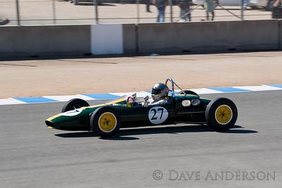 Car #27, 1963 Lotus 27(1100cc), Chris Locke(San Anselmo, CA), 8th Place, Best Race Lap: 01:45.446 (Race Group 6A, 1958-1963 Formula Junior Cars)