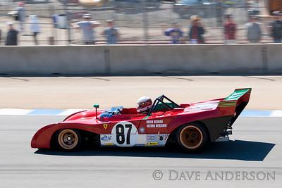 Car #87, 1970 Ferrari 312 PB(3000cc), Steven Read(Berkeley, CA), 3rd Place, Best Race Lap: 01:33.313 (Race Group 5A, 1964-1969 FIA Mfg. Championship Cars)
