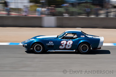 Car #38, 1969 Chevrolet Corvette(7439cc), Jason Len(San Luis Obispo, CA), 15th Place, Best Race Lap: 01:45.519 (Race Group 2A, 1973-1982 IMSA GT, GTX, AAGT Cars)