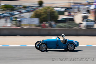 Car #24, 1924 Bugatti Type 35(2000cc), Richard Haga(Los Angeles, CA), 25th Place, Best Race Lap: 02:28.437 (Race Group 4A, Bugatti Grand Prix)