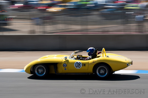 Car #8, 1961 Ol' Yeller MK 9(5358cc), Chris Hines(Scottsdale, AZ), 5th Place, Best Race Lap: 01:48.635 (Race Group 3A, 1955-1961 Sports Racing Cars over 2000cc)