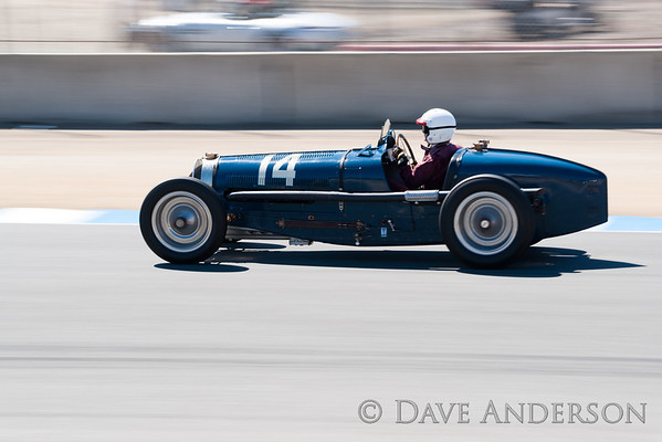 Car #14, 1934 Bugatti Type 59(3300cc), Charles McCabe(San Francisco, CA), 3rd Place, Best Race Lap: 02:04.421 (Race Group 4A, Bugatti Grand Prix)
