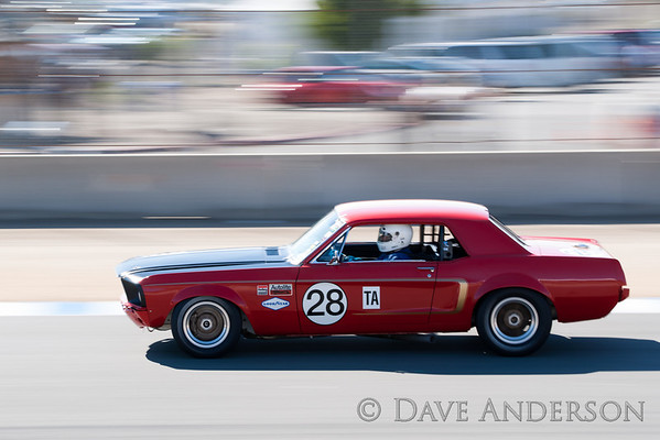 Car #128, 1968 Ford Mustang(4949cc), 28-Nick DeVitis(Sammamish, WA), 11th Place, Best Race Lap: 01:46.586 (Race Group 7A, 1966-1972 Trans Am)