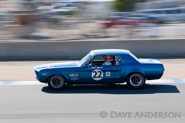 Car #22, 1968 Ford Mustang(5000cc), Gary Goeringer(Nipomo, CA), 4th Place, Best Race Lap: 01:45.155 (Race Group 7A, 1966-1972 Trans Am)