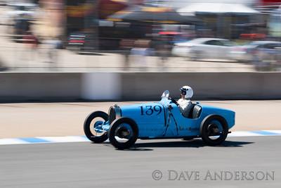 Car #139, 1926 Bugatti Type 39A(1500cc), Charlie Shalvoy(Menlo Park, CA), 7th Place, Best Race Lap: 02:07.627 (Race Group 4A, Bugatti Grand Prix)