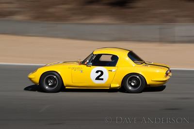 Car #2, Andre Lara-Resende(Sao Paulo, Brazil), 1965 Lotus 26R(1594cc), 2nd Place, Best Race Lap: 01:44.896 (Race Group 7B, 1961-1966 GT Cars under 2500cc)