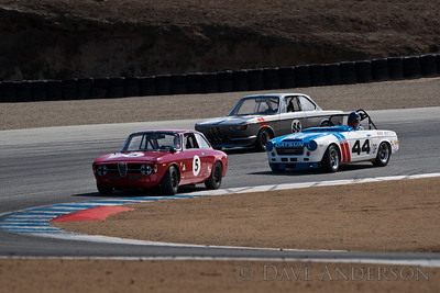 Car #44, Adam Carolla(Los Angeles, CA), 1968 Datsun 2000(2000cc), 7th Place, Best Race Lap: 01:50.205 (Race Group 7B, 1961-1966 GT Cars under 2500cc)  Car #5, Martin Lauber(Mill Valley, CA), 1967 Alfa Romeo Giulia Sprint GT(1600cc), 9th Place, Best Race Lap: 01:50.073 (Race Group 7B, 1961-1966 GT Cars under 2500cc)  Car #88, John Murray(Irvine, CA), 1966 BMW 2000CS(2000cc), 18th Place, Best Race Lap: 01:54.445 (Race Group 7B, 1961-1966 GT Cars under 2500cc)