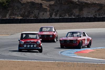 Car #36, Mark Colbert(Delray Beach, FL), 1965 Alfa Romeo GTA(1600cc), 8th Place, Best Race Lap: 01:49.864 (Race Group 7B, 1961-1966 GT Cars under 2500cc)  Car #5, Martin Lauber(Mill Valley, CA), 1967 Alfa Romeo Giulia Sprint GT(1600cc), 9th Place, Best Race Lap: 01:50.073 (Race Group 7B, 1961-1966 GT Cars under 2500cc)  Car #177, Dennis Racine(Alamo, CA), 1966 Morris Mini Cooper S(1275cc), 40th Place, Best Race Lap:  (Race Group 7B, 1961-1966 GT Cars under 2500cc)