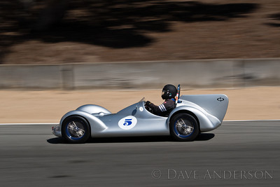 Car #5, Mark Sange(Bolinas, CA), 1956 Avia Streamliner(750cc), 25th Place, Best Race Lap: 02:12.725 (Race Group 5B, 1947-1955 Sports Racing and GT Cars)