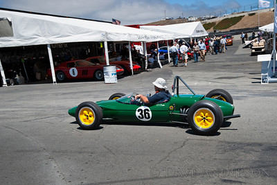 Car #36, Danny Baker(San Francisco, CA), 1963 Lotus 27(1099cc), 2nd Place, Best Race Lap: 01:39.710 (Race Group 2B, 1958-1963 Formula Junior Cars)