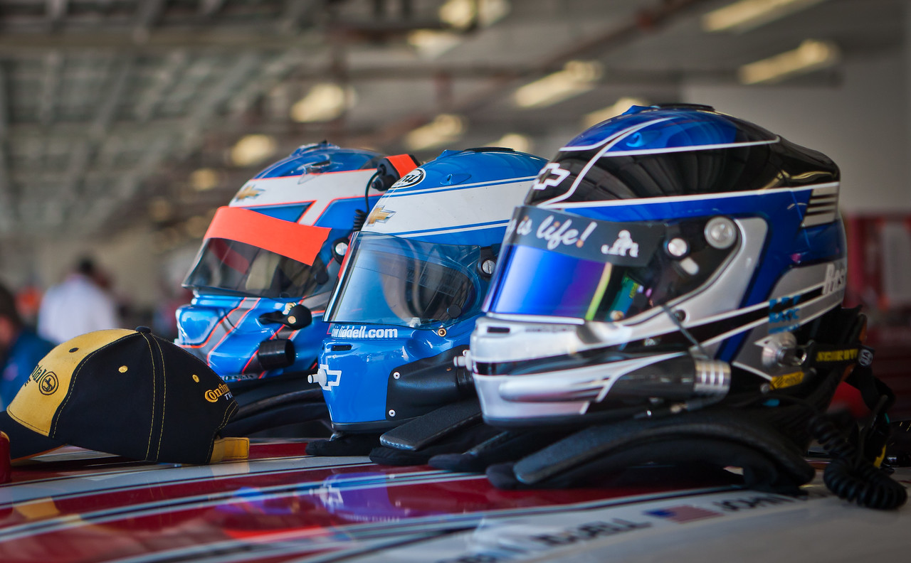 Stevenson Racing team helmets