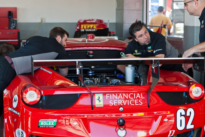 Risi Competizione Team readies their Ferrari 458